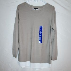 Ladies' Long Sleeve Sweater, L, Sand, New w/o Tag